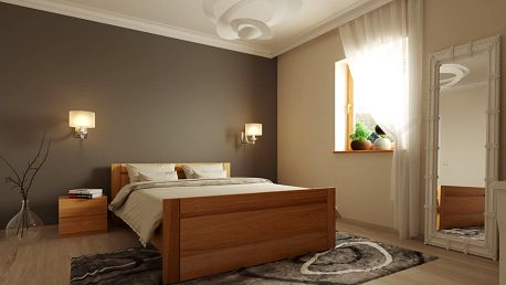 Manželská postel KINGSTONE 150x200 cm vč. roštu
