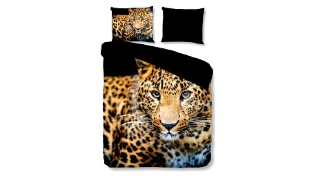 Povlečení na dvoulůžko Muller Textiels Pure Wild Leopard, 200 x 200 cm
