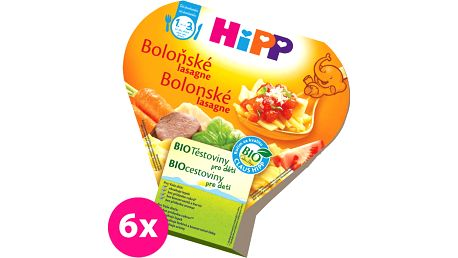 6x HIPP BIO boloňské lasagne (250 g) - zeleninový příkrm