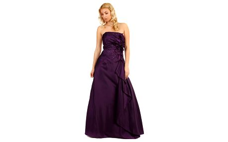 Dlouhé korzetové šaty fialové fialová