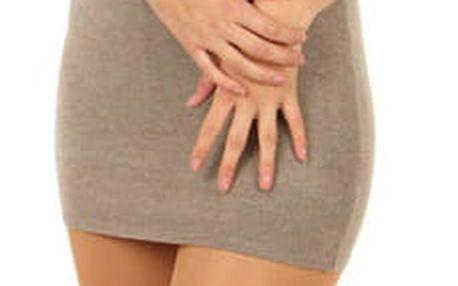 Úpletové dámské mini šaty s kamínky hnědá