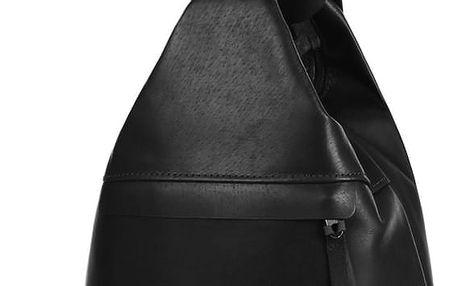 Kožený batoh/kabelka 3v1 - Česká výroba černá