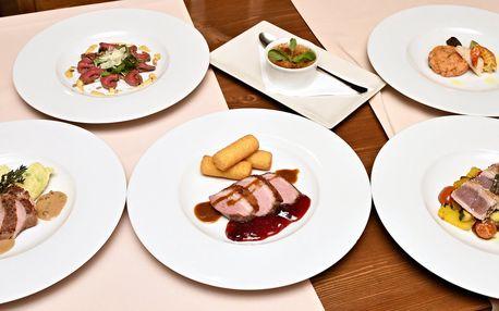 Slavnostní 6chodové degustační menu pro 2
