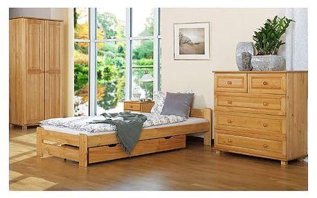 Postelový komplet IRENA MAX 90x200 cm z masivní borovice