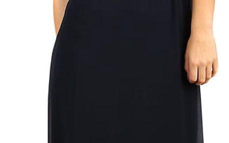 Dlouhé šifonové šaty s krajkou červená