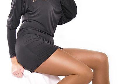 Punčochové kalhoty silonky Stretch černá