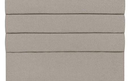 Krémové čelo postele Mazzini Sofas Pesaro, 200 x 120 cm - doprava zdarma!