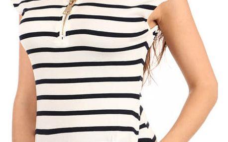 Moderní pruhované tričko/šaty II.jakost bílá