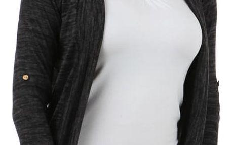 Stylový cardigan s dlouhým rukávem černá