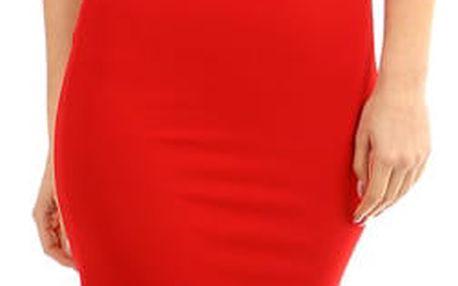 Dlouhé večerní šaty s krajkou červená