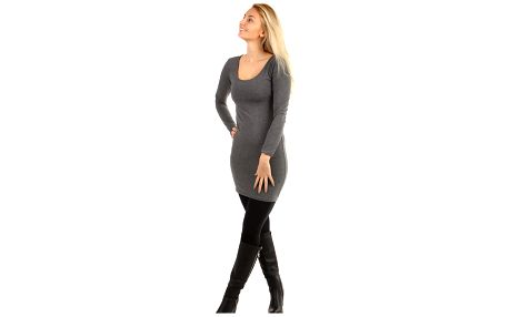 Dámské přiléhavé šaty šedá