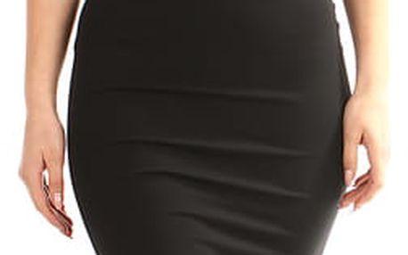 Dlouhé plesové šaty s aplikací červená