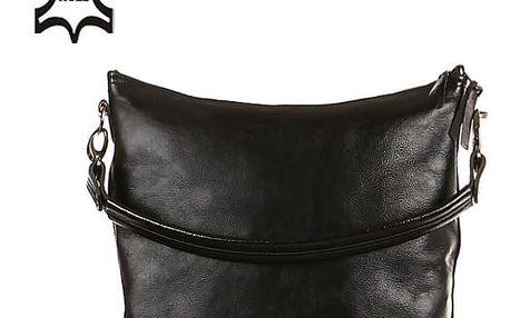 Velká kabelka z pravé kůže - Česká výroba černá/hnědá