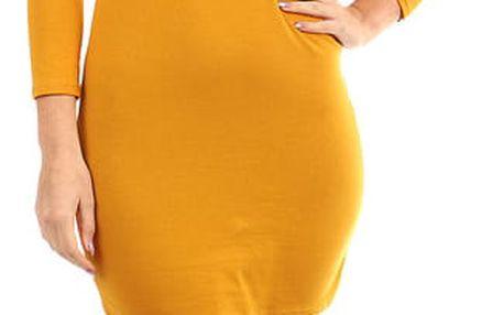 Dámské přiléhavé šaty žlutá
