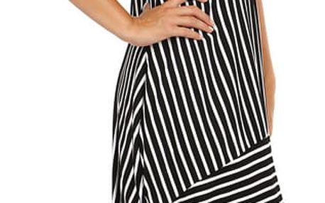 Letní plážové šaty s balonovou sukní černá