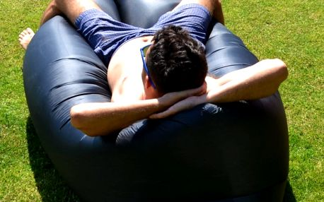 Sedací vak Lazy Bag HooUp black
