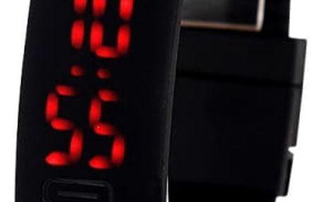 Silikonové LED hodinky pro sportovní nadšence - černá barva - dodání do 2 dnů