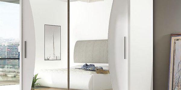 Zrcadlová šatní skříň BEGA 5 - šířka 180 cm