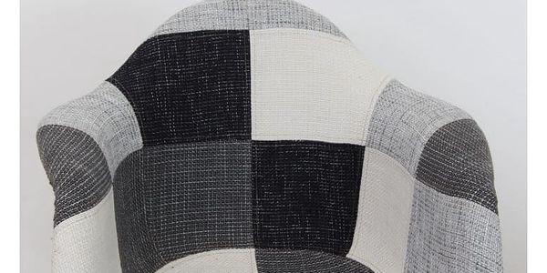 Křeslo, látka patchwork / buk, Kubis4