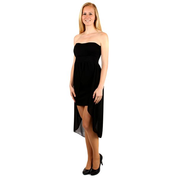 Elegantní jednobarevné šaty s vlečkou černá