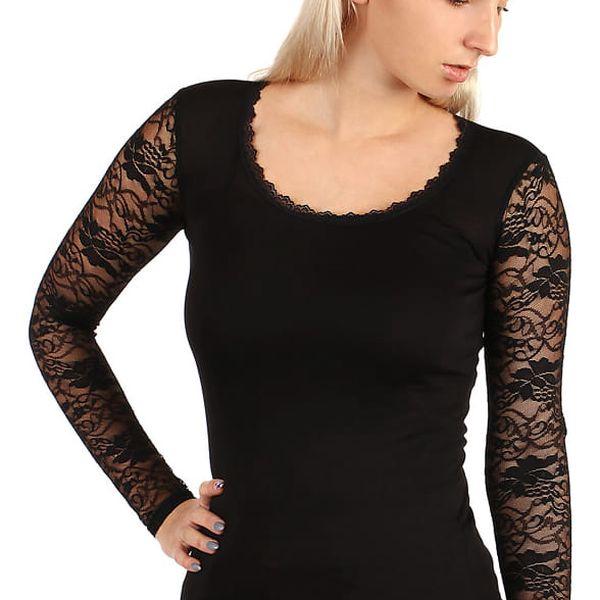 Dámské tričko s kulatým výstřihem černá