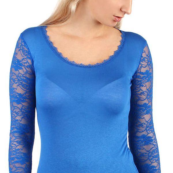 Dámské tričko s kulatým výstřihem modrá