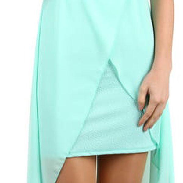 Elegantní jednobarevné šaty s vlečkou černá2