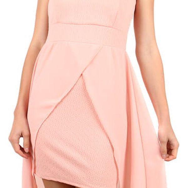 Elegantní jednobarevné šaty s vlečkou černá3