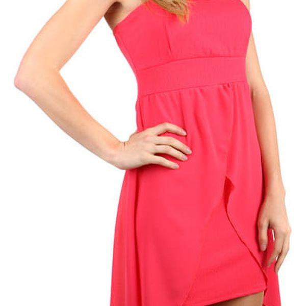 Elegantní jednobarevné šaty s vlečkou černá4