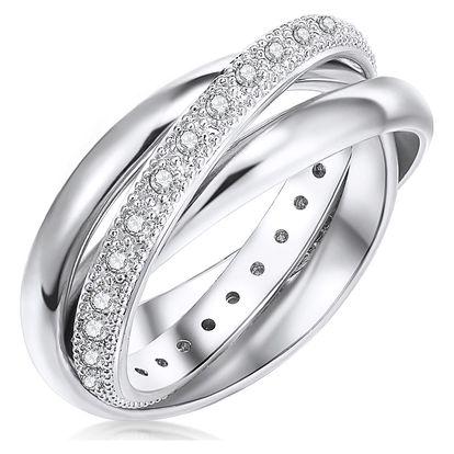 Dámský prsten stříbrné barvy Runaway Clarita, 56 - doprava zdarma!