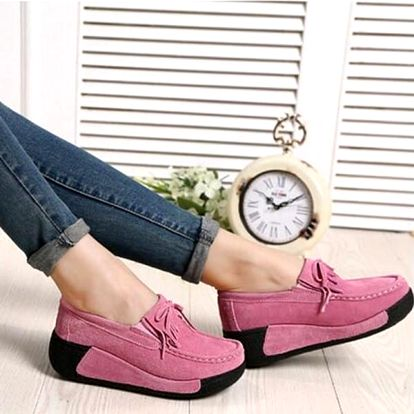 Semišové pohodlné boty