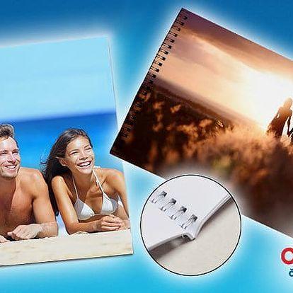Fotokniha s kroužkovou vazbou a 25 stránkami ve formátu A4 či A5