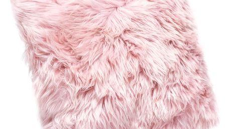Růžový polštář z ovčí kožešiny Royal Dream Sheepskin, 45x45cm - doprava zdarma!