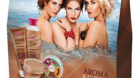 Dermacol Aroma Ritual Irish Coffee sprchový gel 250 ml + tělový peeling 200 g + pěna do koupele 500 ml dárková sada
