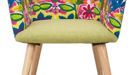 Křeslo s podnožím z kaučukovníkového dřeva Mauro Ferretti Hippie - doprava zdarma!