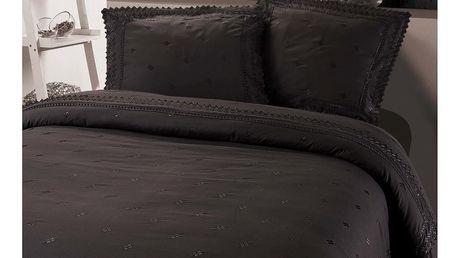 Tmavě šedé povlečení z mikroperkálu Sleeptime Rio, 200x220cm - doprava zdarma!