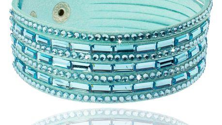 Fashion Icon Náramek široký tkanina krystalky