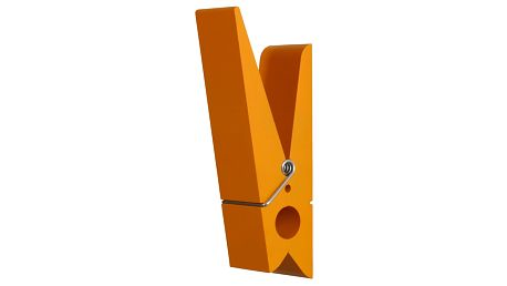 Oranžový věšák ve tvaru kolíčku Swab - doprava zdarma!