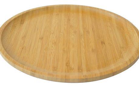 Bambusový servírovací podnos Bambum Penne,⌀28cm - doprava zdarma!