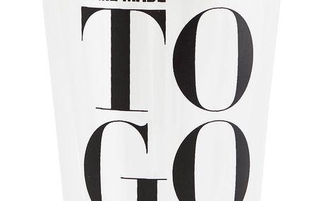 Nicolas Vahé Termo sklenička TO GO, černá barva, čirá barva, sklo