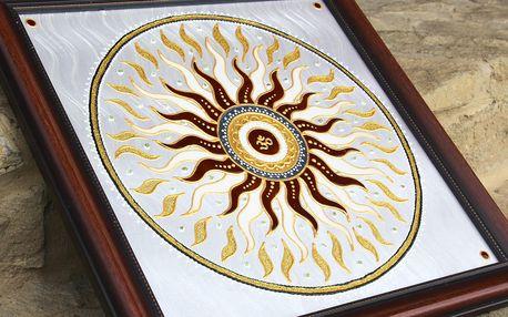 Ručně malovaná mandala pro harmoničtější život