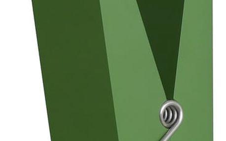 Zelený věšák ve tvaru kolíčku Swab - doprava zdarma!
