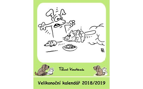 Velikonoční kalendář s obrázky a vtipy p. Pavla Kantorka