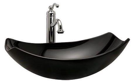 Skleněné umyvadlo Rea Luis černé