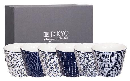 Sada 6 hrnků Tokyo Design Studio Le Bleu De Nimes, 180ml - doprava zdarma!