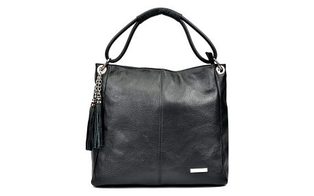 Černá kožená kabelka Anna Luchini Janet - doprava zdarma!