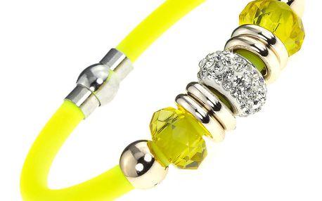Fashion Icon Náramek silikon s krystalky