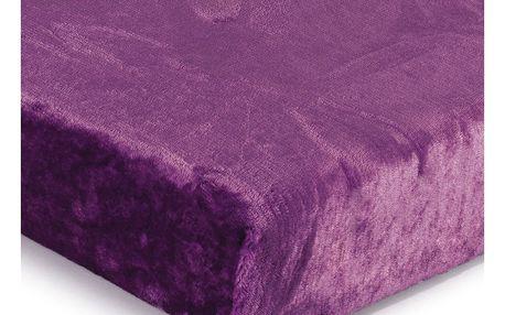Jahu Prostěradlo Mikroplyš fialová, 90 x 200 cm