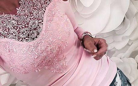 Elegantní tričko Anneke s krajkami - 5 barev