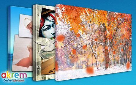 Fotografie na plátně 20x30 cm, 60x40 cm, 90x60 cm nebo 120x80 cm ve dřevěném rámu